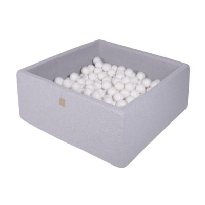 Szögletes labdamedence 200 labdával - White
