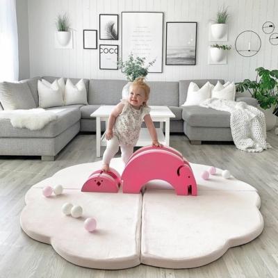 Felhő alakú összecsukható játszómatrac - pink