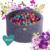 Velvet labdamedence 250 labdával - Flower