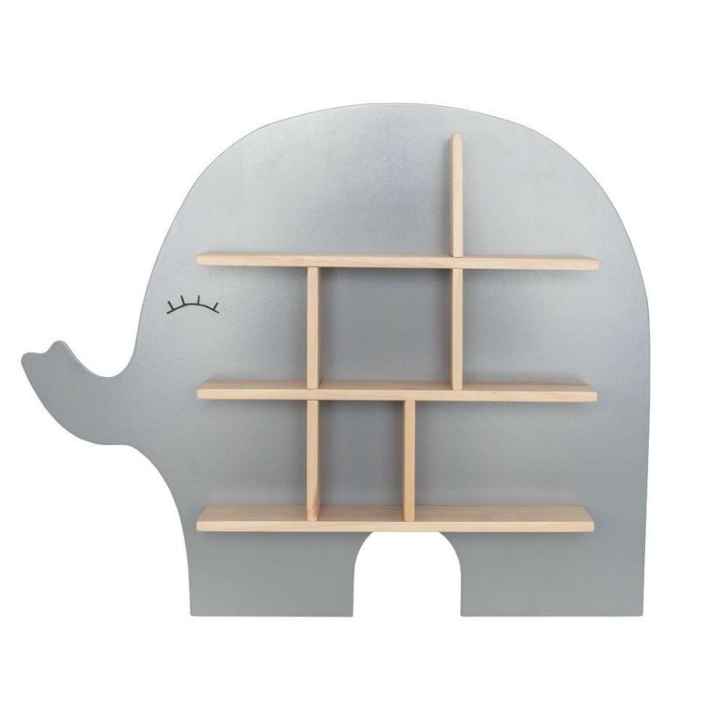 Fa elefánt formájú polc, ezüstszürke Jabadabado