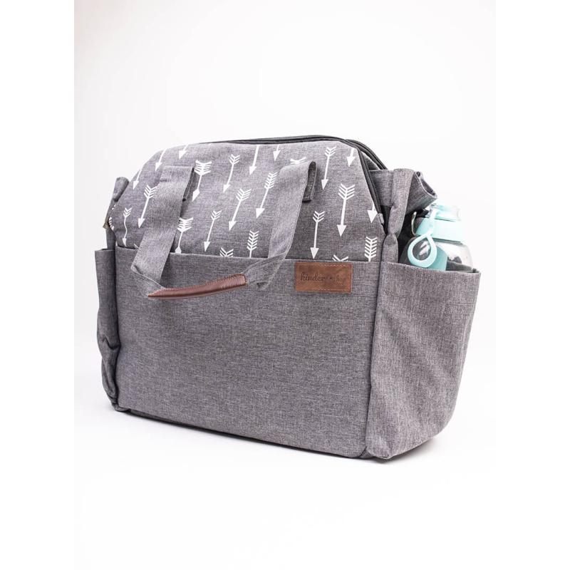 Kinder Hop pelenkázó táska - szürke