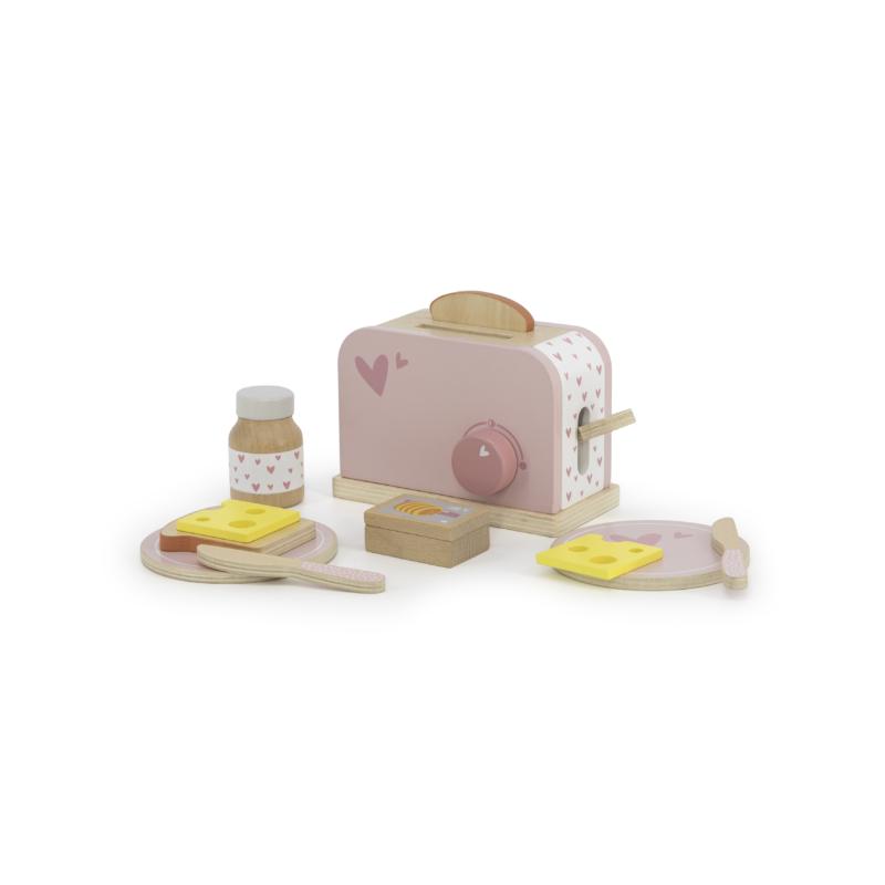 Label Label fa játék kenyérpirító - rózsaszín