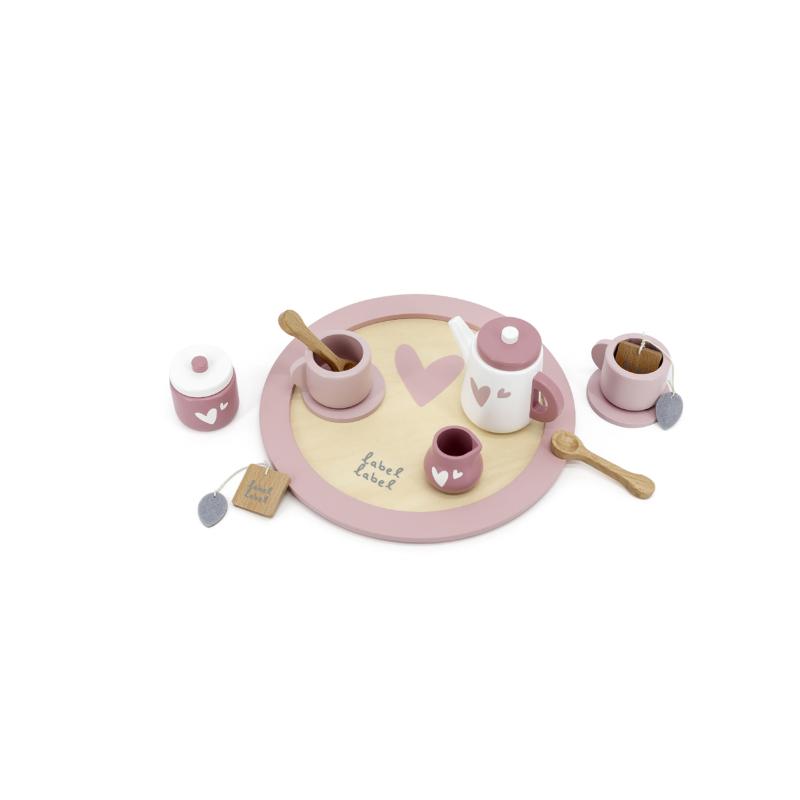 Label Label fa teáskészlet - rózsaszín