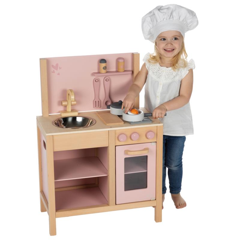 Label Label fa játékkonyha - rózsaszín