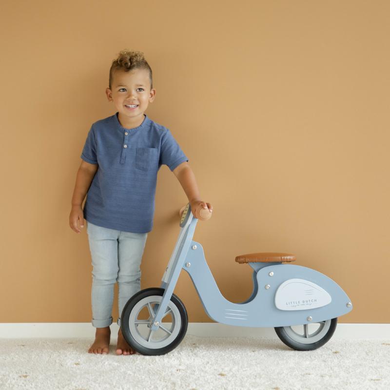 Little Dutch scooter fa robogó - kék
