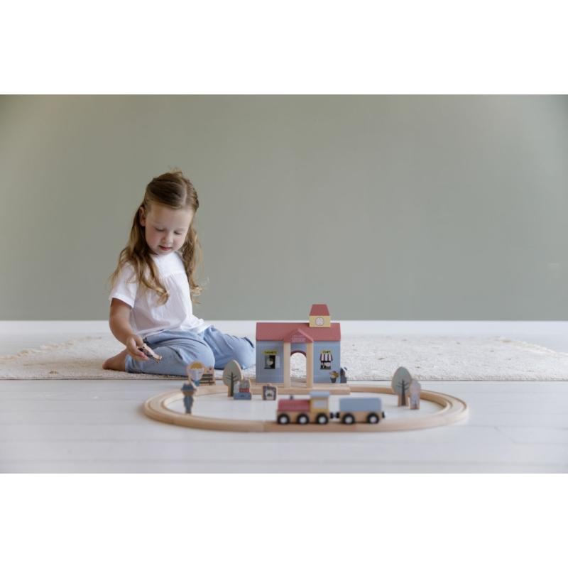 Little Dutch fa vasútállomás - fa vasút kiegészítő