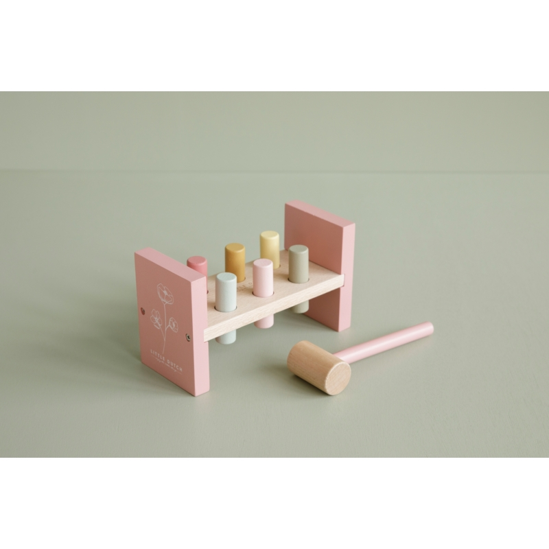 Little Dutch fa kalapáló játék pink