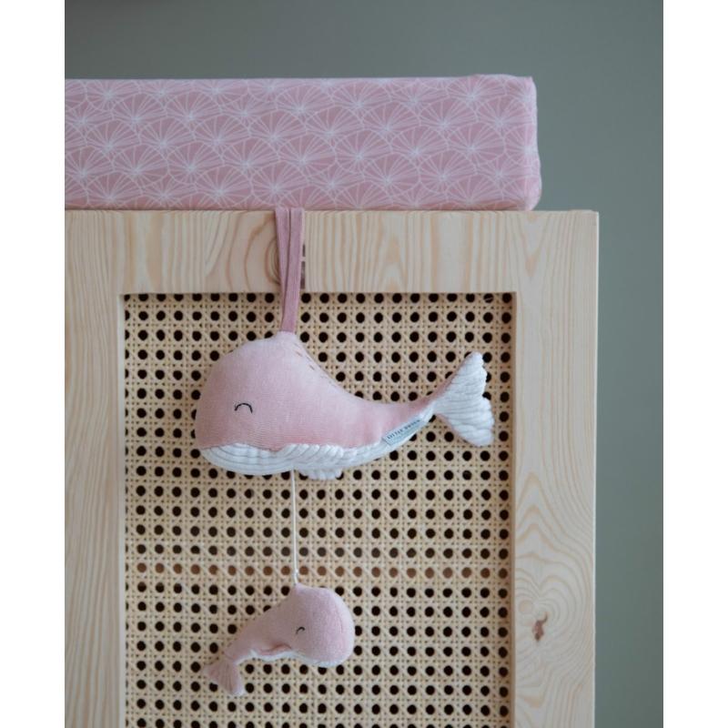 Little Dutch felhúzható & zenélő bálna - pink
