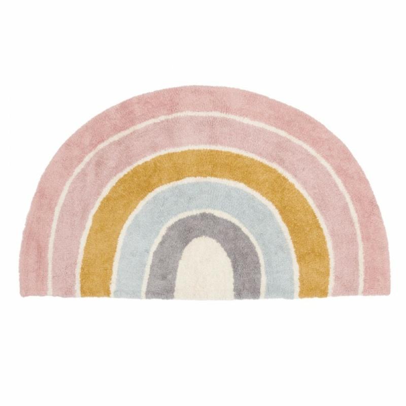 Little Dutch gyerekszőnyeg - pink, szivárványos 130x80cm