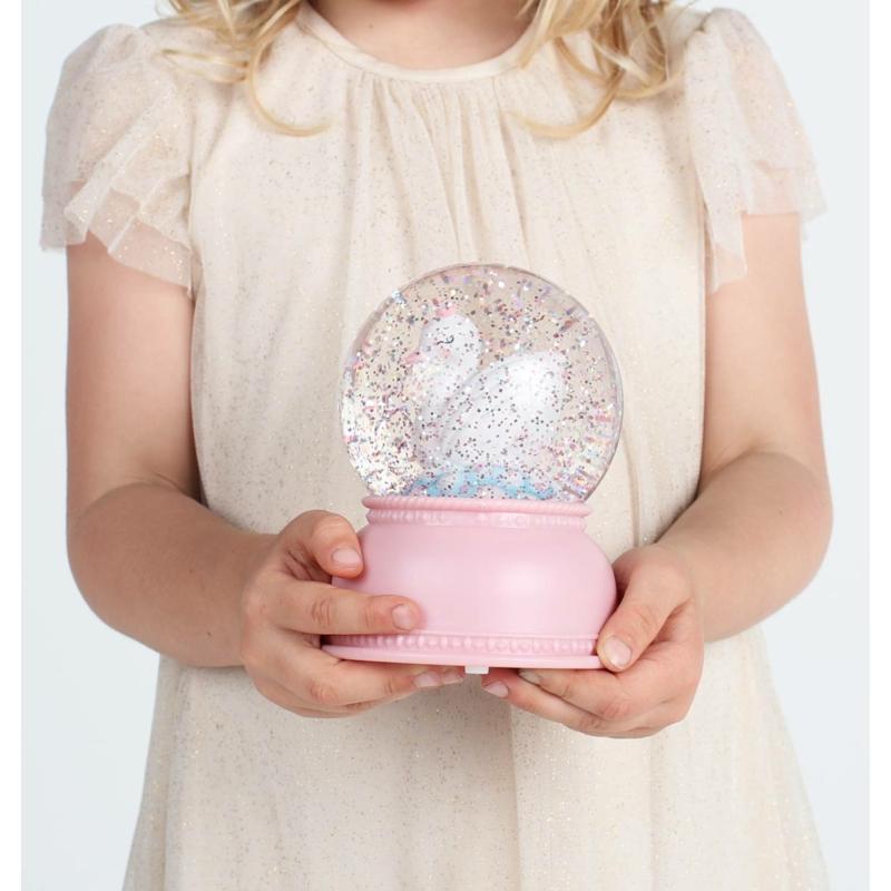 A Little Lovely Company csillámgömb - hattyú