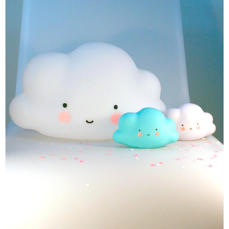 A Little Lovely Company mini éjjeli fény, FELHŐ - fehér