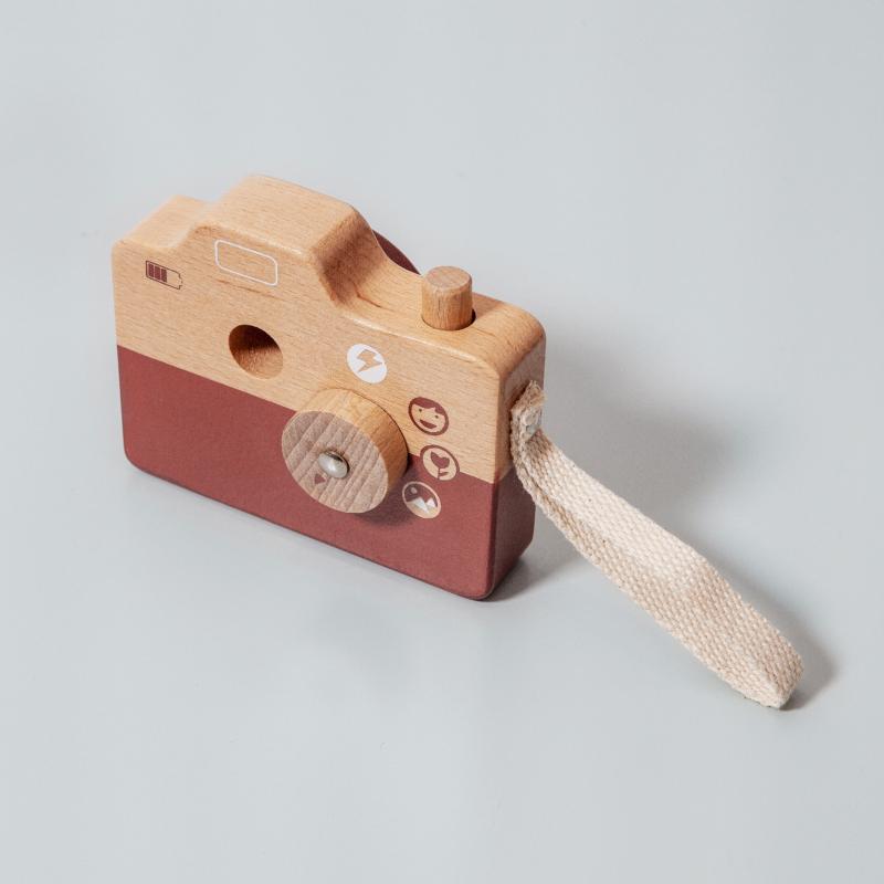 Petit Monkey fa játék fényképezőgép  barna