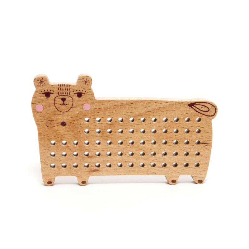 Petit Monkey fa fűzős maci