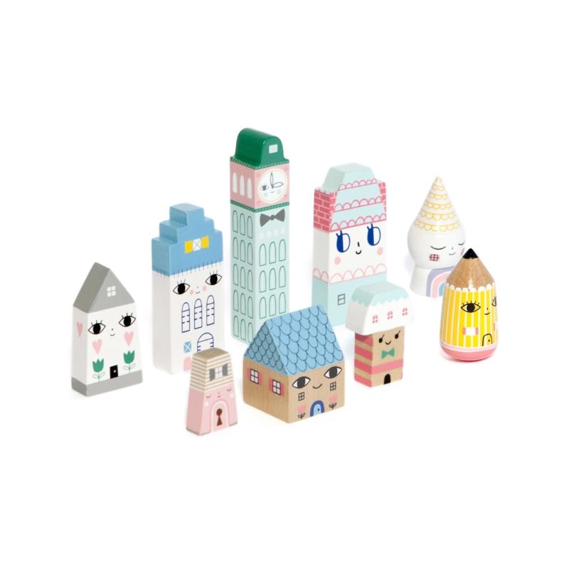 Petit Monkey Suzie's city - városépítő játék fából