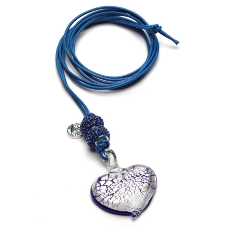 Proud MaMa kismama nyakánc - Murano Heart kék