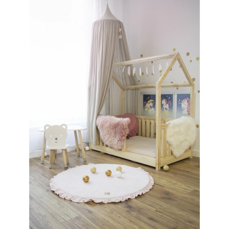 Kör alakú játszószőnyeg fodros - rózsaszín
