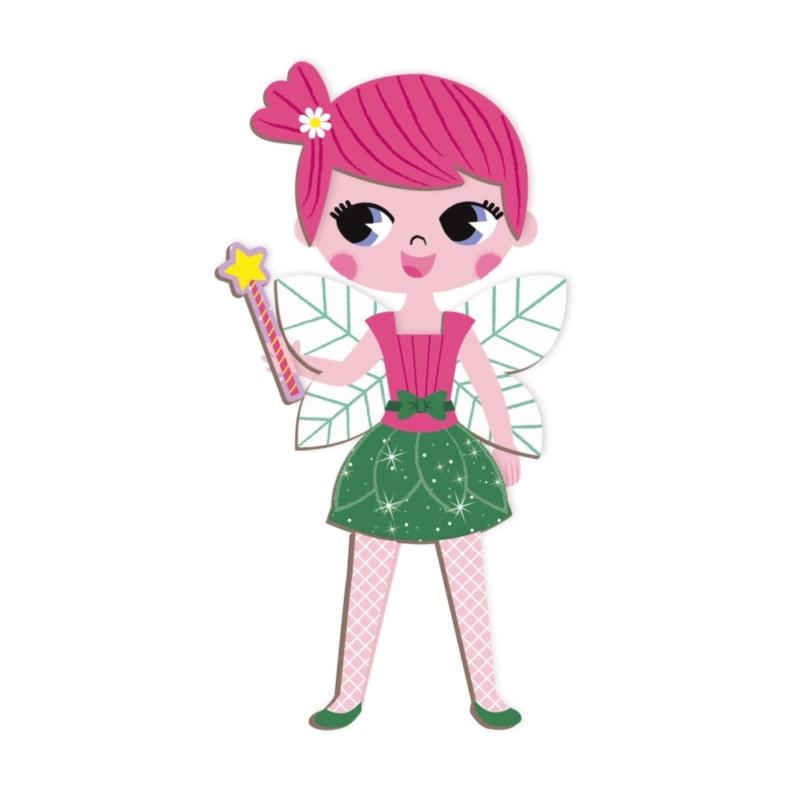 Janod mágneses könyv - lányos öltöztető