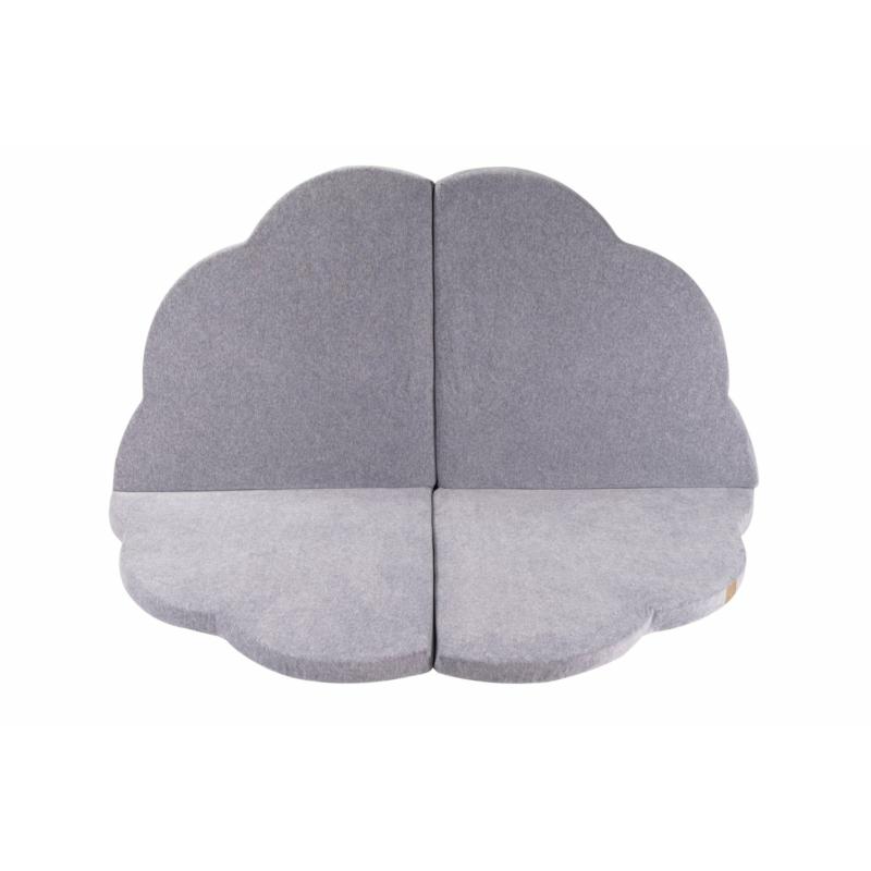Felhő alakú összecsukható játszómatrac - szürke