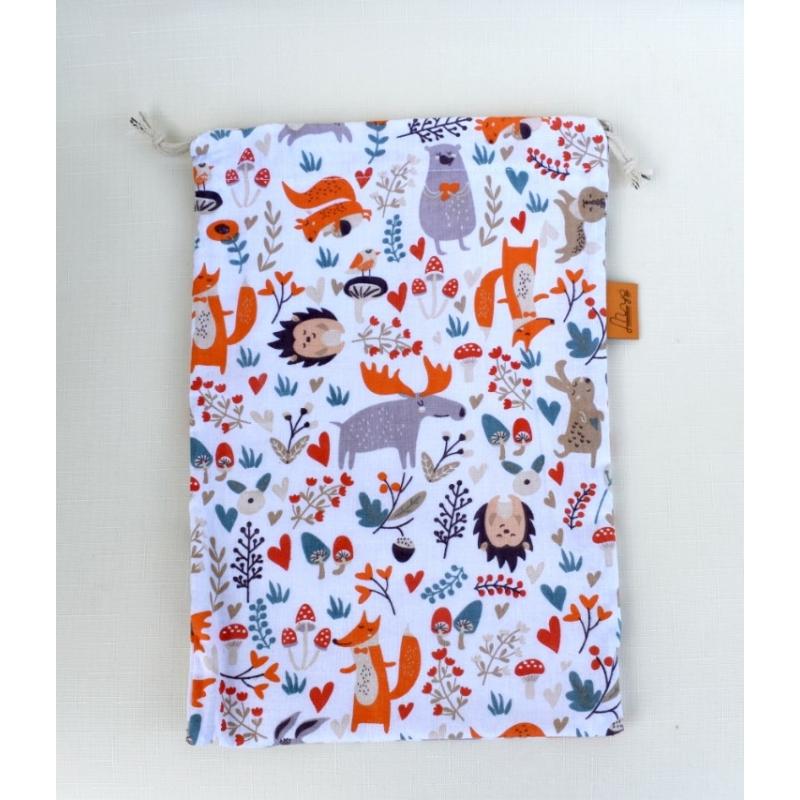 Textilzsák - erdei állatok