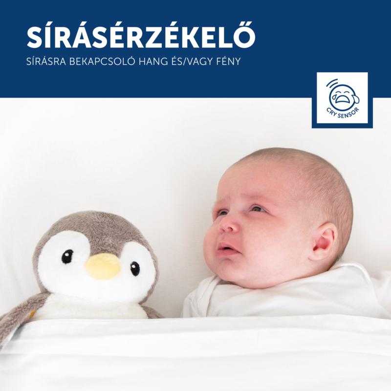 Zazu – PHOEBE babanyugtató plüsspingvin éjjeli fénnyel és hangrögzítővel