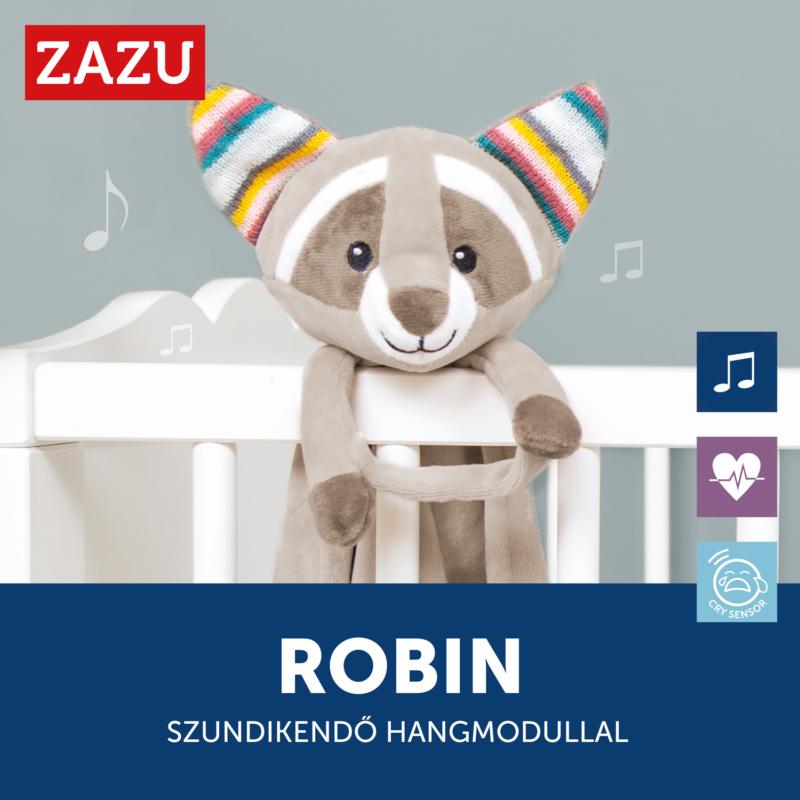 ZAZU Robin szundikendő sírásérzékelő hangmodullal