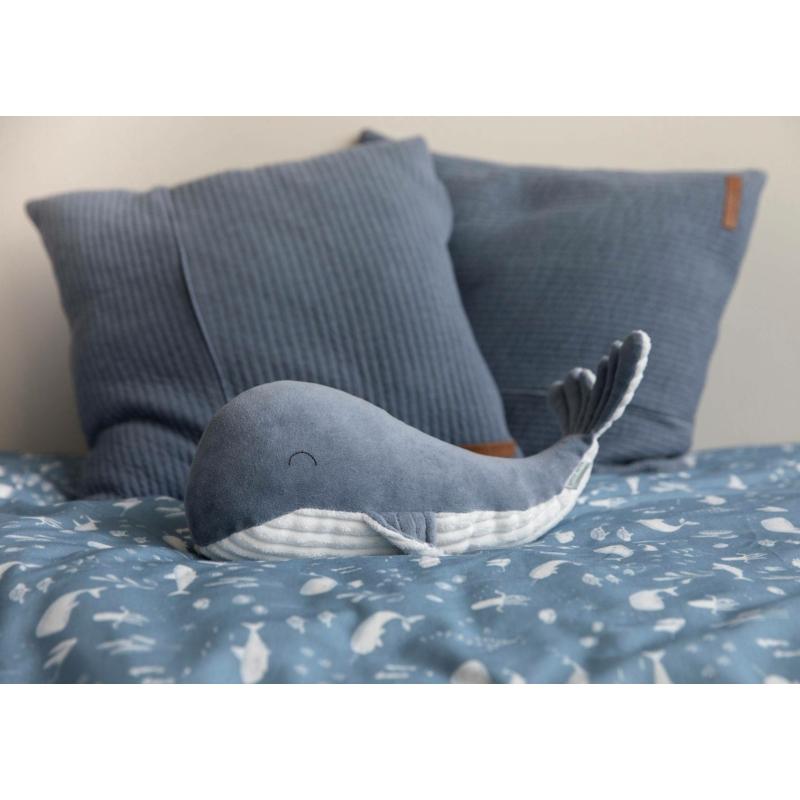 Little Dutch plüss játék bálna - kék 25 cm
