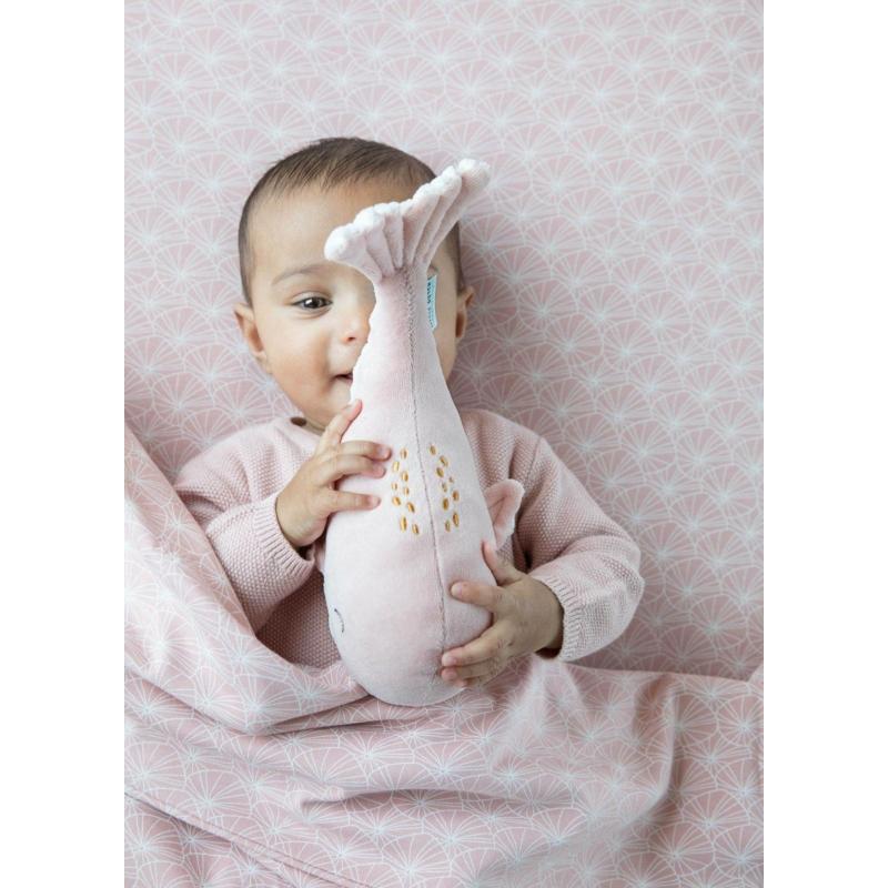Little Dutch plüss játék bálna - pink 25 cm