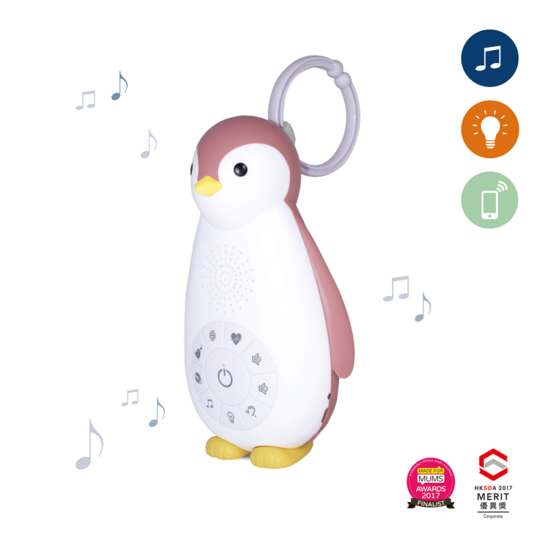 Zoé music box és éjjeli fény - pink