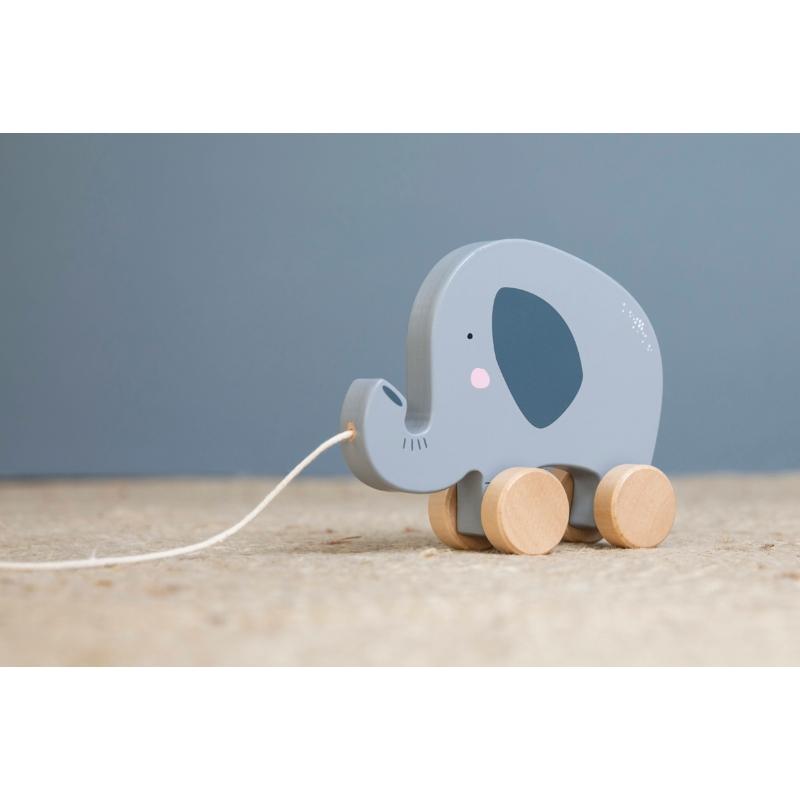 Little Dutch húzható fa játék - elefánt