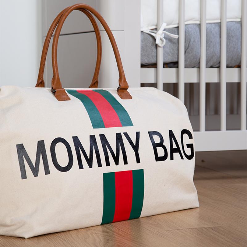 Mommy Bag - zöld csíkos
