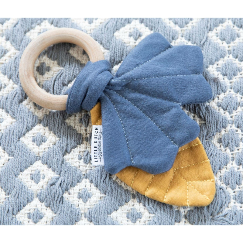 Little Dutch rágóka Pure & Nature - mustársárga / kék