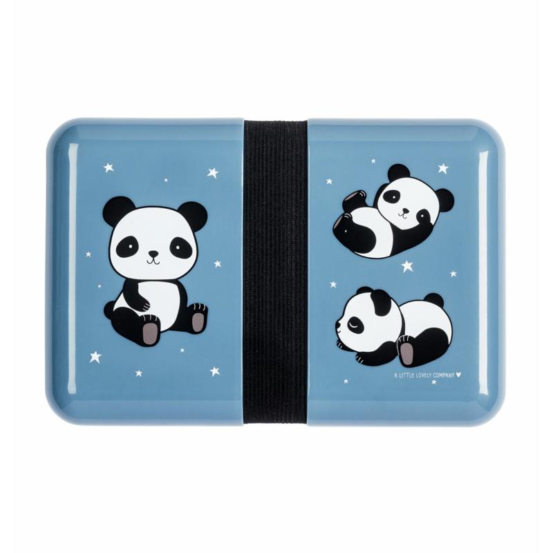 Uzsonnás doboz, PANDA - matricával