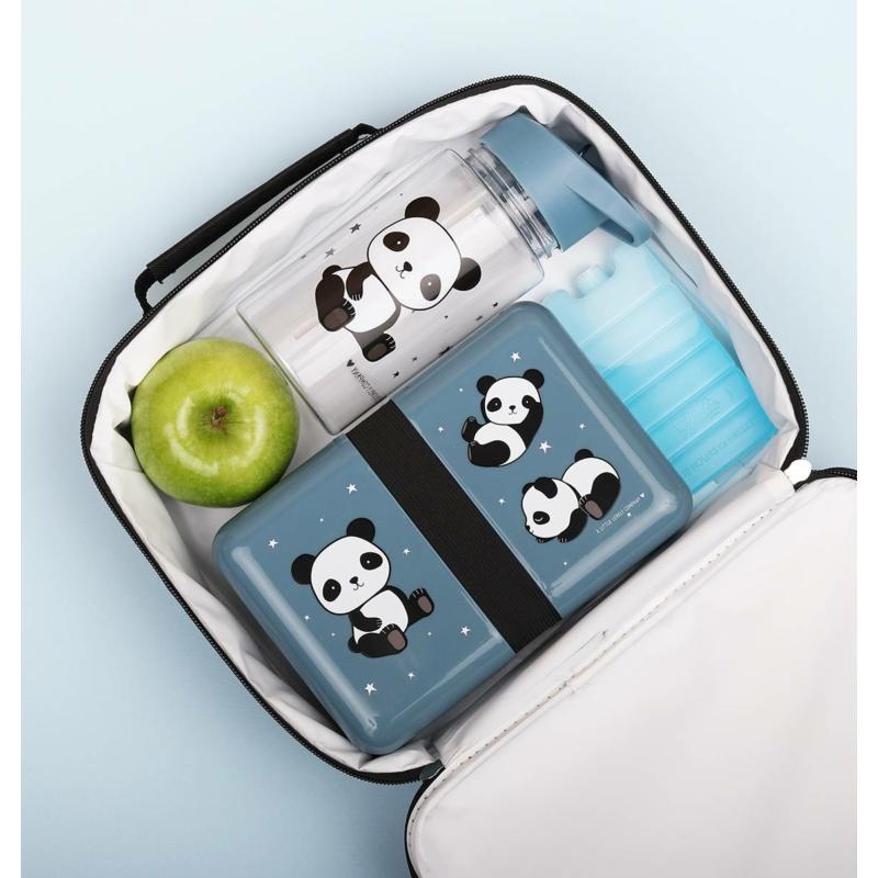 A Little Lovely Company uzsonnástáska/hűtőtáska, PANDA - csillámos
