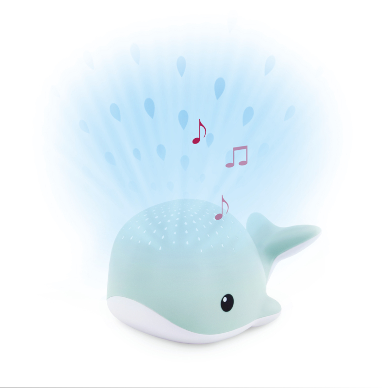 ZAZU WALLY bálna kivetítő nyugtató dallamokkal - kék